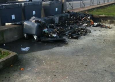 Nettoyage incendie poubelles Avant