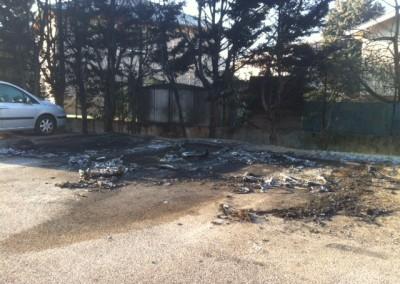 Nettoyage incendie véhicules Avant