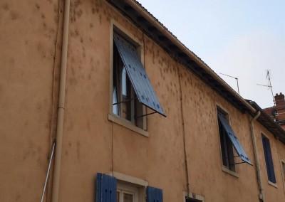 Désinsectisation d'araignées de facade avant